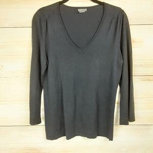 Ann Taylor V-neck Silk Blend Blouse Size M